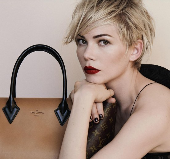 Michelle Williams Louis Vuitton Close Up Crop