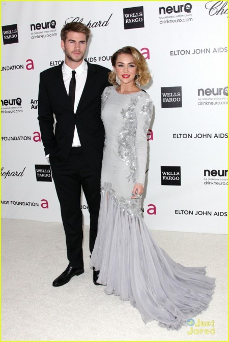 Miley Cyrus Elton John Oscar Party Party