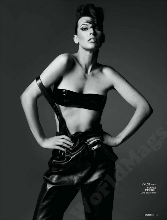 Milla Jovovich Strikes Pose For Dt Magazine Spain October