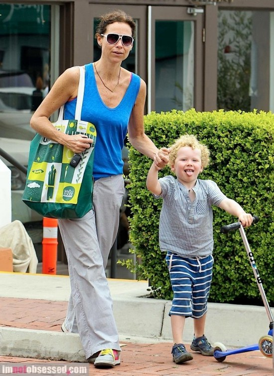 Minnie Driver Hangs Out With Her Son