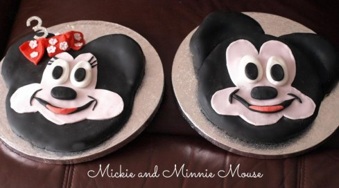 Mickie And Minnie Mouse Black And White