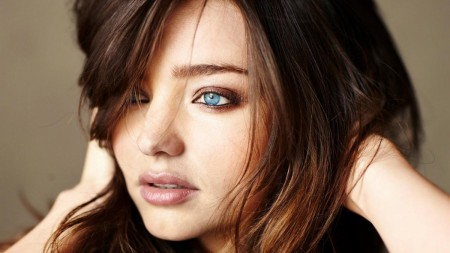 Brunettes Women Miranda Kerr Blue Eyes Models Faces Hd Wallpaper Hair