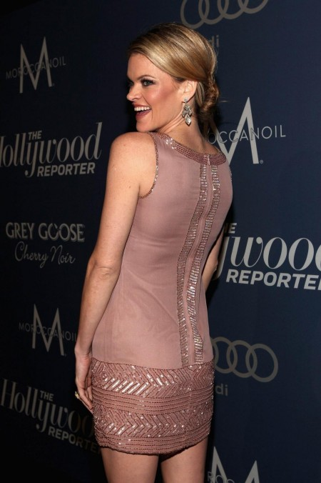 Missi Pyle Hollywood Reporters Nominees Night Light Brown Dress Missi Pyle Hollywood Reporters Nominees Night