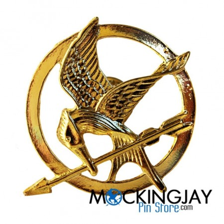 Gold Pin Mockingjay