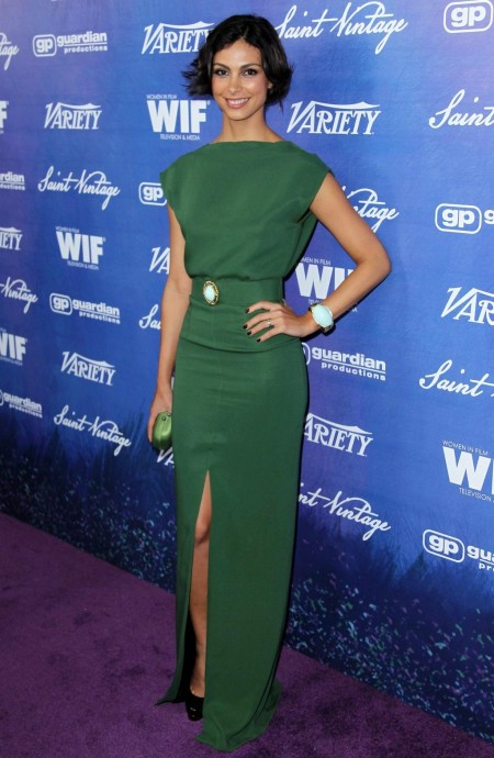 Morena Baccarin Green Dress Variety Women Film Pre Emmy Event Morena Baccarin Green Dress Variety Women Film Pre Emmy Event