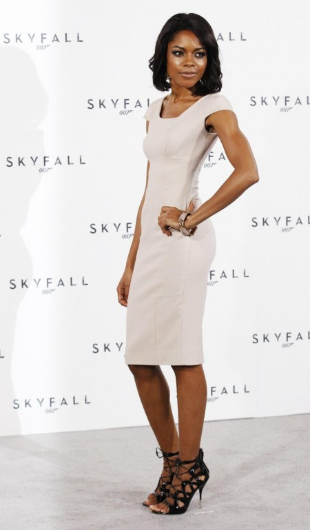 Actor Naomie Harris Poses While Launching The Start Of Production Of