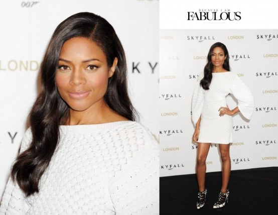 Naomie Harris Wearing Chanel Skyfall London Photocall