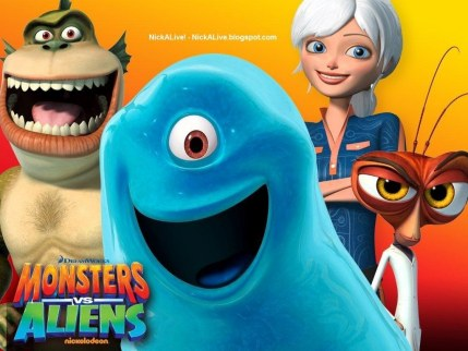 Nickelodeon Dreamworks Monsters Vs Aliens Nicktoons Nicktoon Animation Characters Cast Group Press Shows