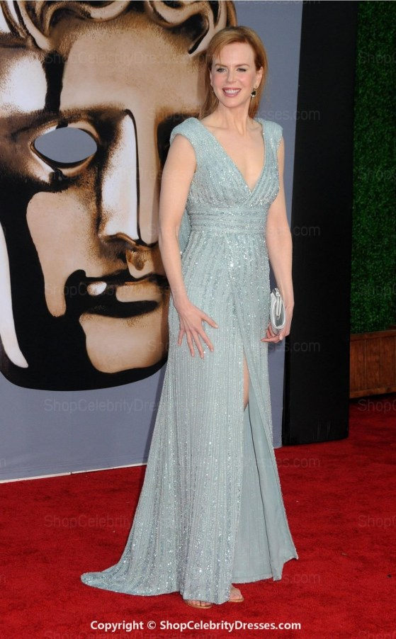 Nicole Kidman Bafta Dresses Line Floor Length Sequined Dressesscd Dresses