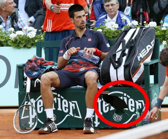 Novak Djokovic Today He Behaved Like Cad And Destroyed Bench Rafael Nadal Body