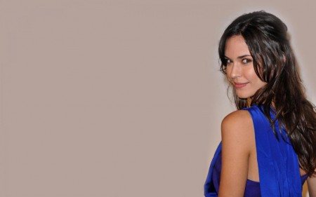 Odette Annable Blue Dress Wallpaper