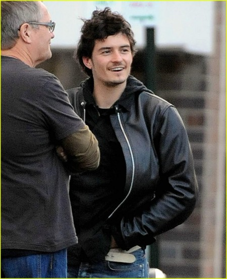 Orlando Bloom Motorcycle Man