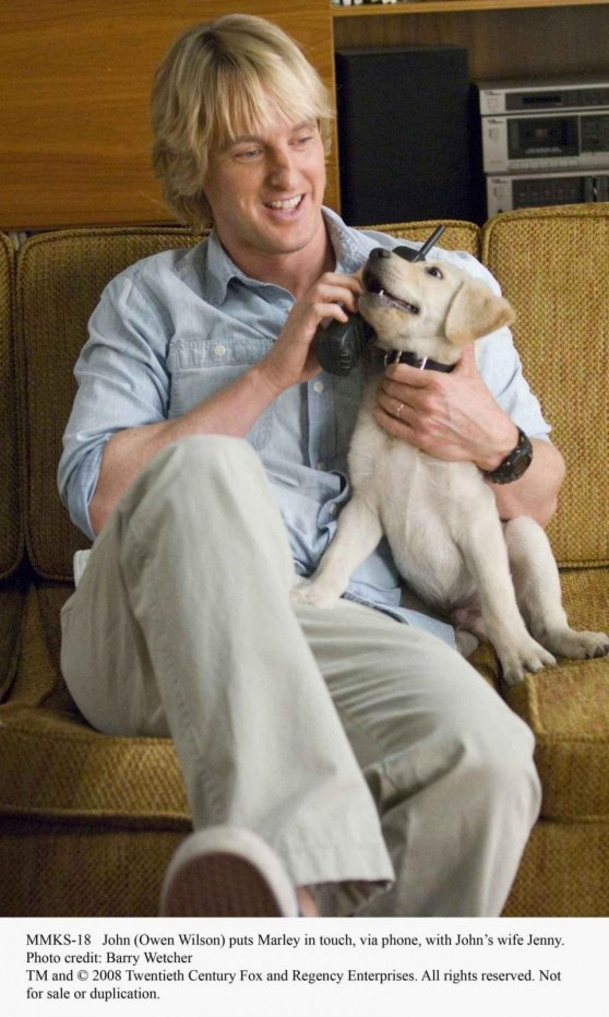 John Owen Wilson Puts Marley In Touch Via Phone With Johns Wife Jenny Photo Credit Barry Wetcher Twentieth Century Fox And Regency Enterprises All Rights Reserved Marley And Me
