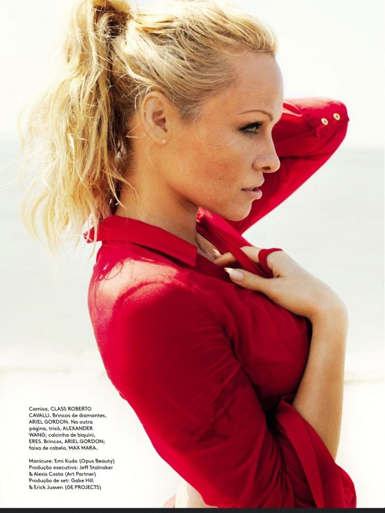 Pamela Anderson In Vogue Magazine Brazil June Issue