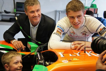 Daniel James With Paul Di Resta And David Coulthard Body