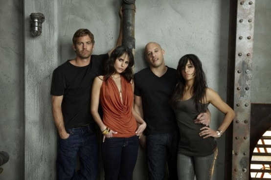 Michelle Rodriguez Jordana Brewster Vin Diesel Paul Walker And Vin Diesel