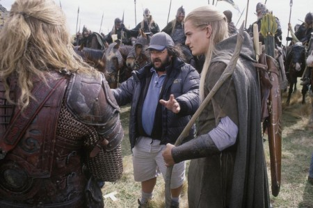 Still Of Peter Jackson And Orlando Bloom In The Lord Of The Rings The Two Towers