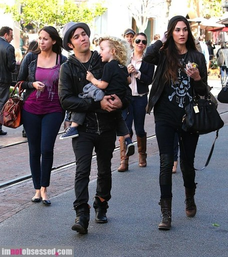 Pete Wentz Strolls Around The Grove With Son Bronx And Gal Pal Meagan Camper