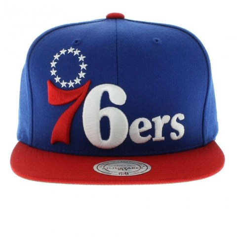 Philadelphia Ers Nba Team Colors The Xl Logo Snapback By Mitchell And Ness Team