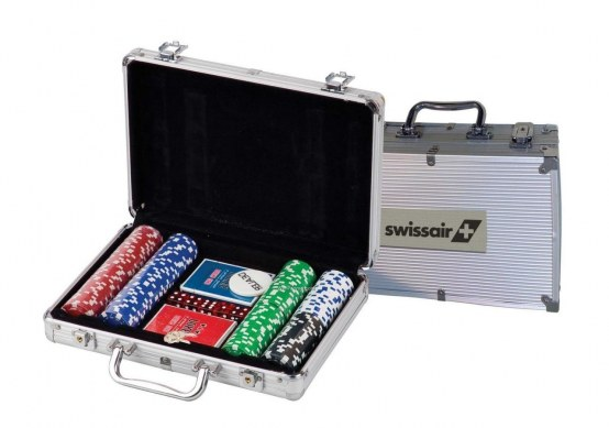 Pc Poker Chip Set In Metal Cards And Chips