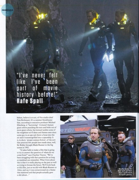 Prometheus Movie Image Scan Set Photo Rafe Spall Sean Harris Prometheus