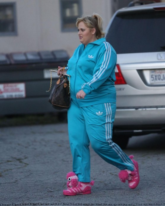 Rebel Wilson Dog Slippers Tracksuit