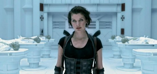 Sexy Milla Jovovich In Resident Evil Afterlife Screenshot Film