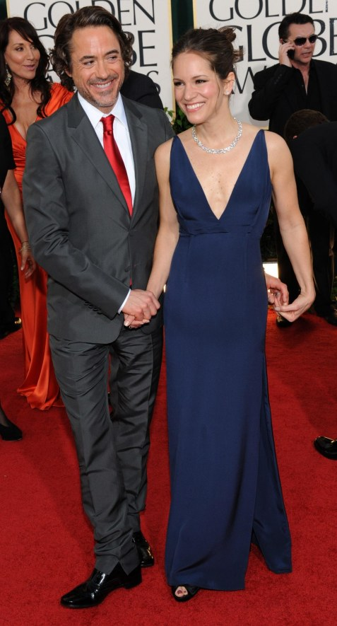 Robert Downey Jr Wife Susan Arrive At Th Annual Golden Globe Awards Beverly Hills California Wife