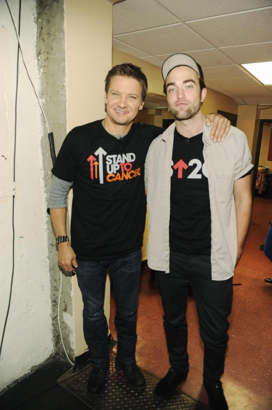 Robert Pattinson Jeremy Renner Stand Up To Cancer