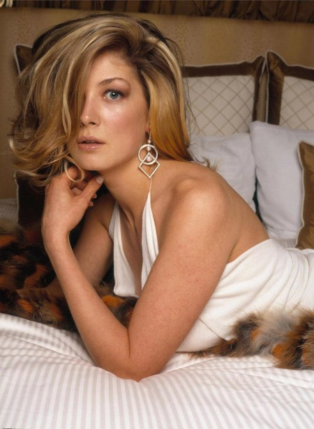 Rosamund Pike White Dress Negligee Lionel Deluy Photoshoot Pike