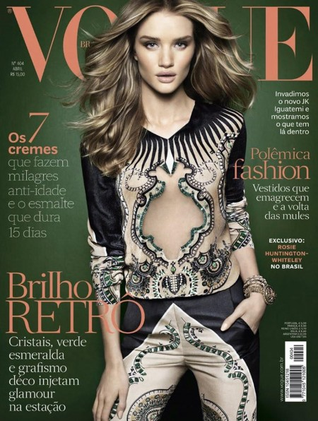 Vogue Brazil April Rosie Huntington Whiteley Henrique Gendre Rosie Huntington Whiteley Vogue