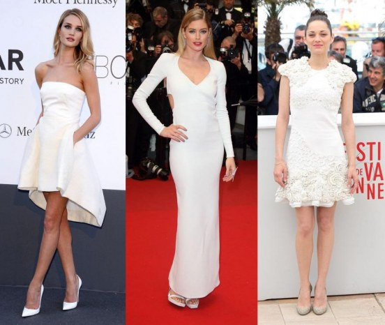 Marion Cotillard Doutzen Kroes Rosie Huntington Whiteley White Dress Main Dress