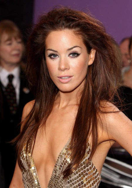 Roxanne Mckee Shiny Gold Dress Cleavage British Soap Awards Mckee Roxanne Bsa