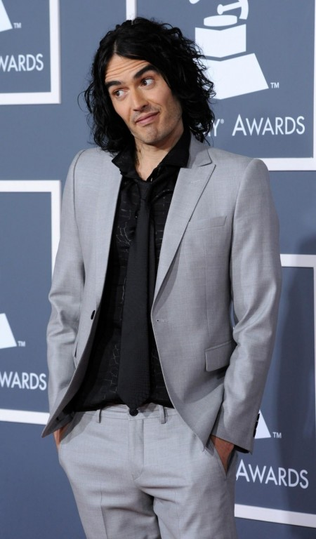 Russell Brand Arrives At Rd Annual Grammy Awards Los Angeles