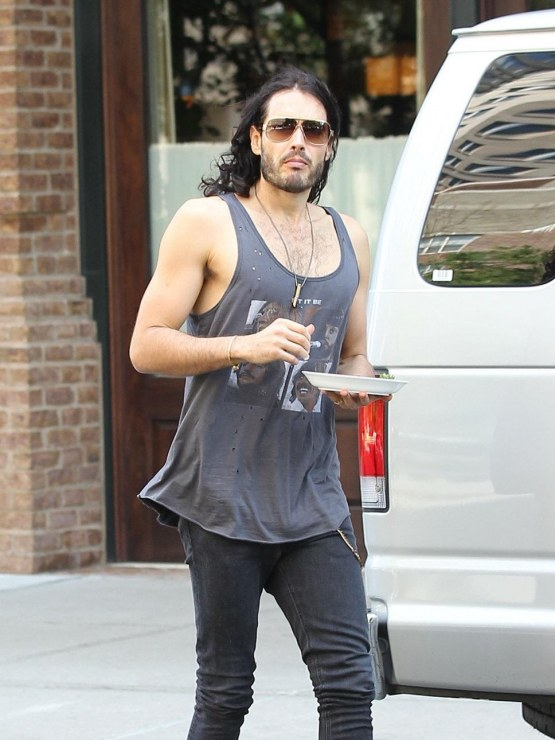 Russell Brand Tank Top Skinny Hot