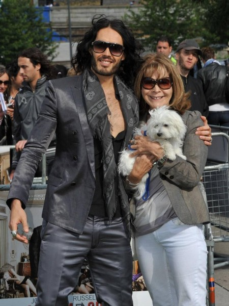 Russell Brand With His Mother