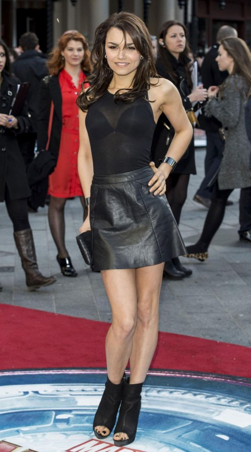 Samantha Barks At Iron Man Premiere In London