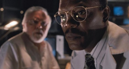 Picture Of Samuel Jackson And Richard Attenborough In Jurassic Park Large Picture