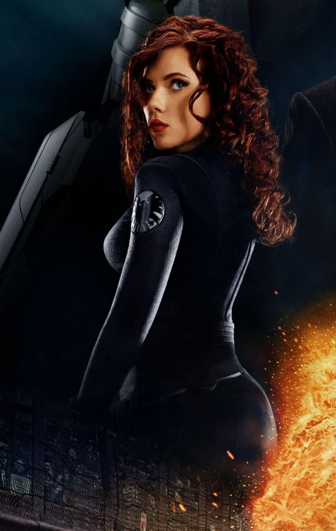 Scarlett Johansson Iron Man Promos Caps Black Widow Outfit Various Outfits Sj Poster Iron Man