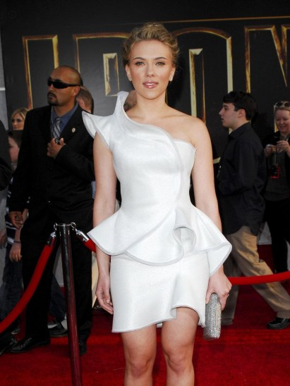 Scarlett Johansson White Dress Iron Man