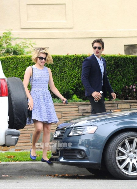 Dianna Agron Leaves Sebastian Stan Apartment Dianna Agron