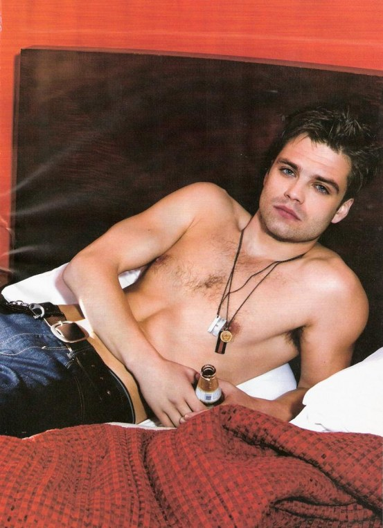 Sebastian Stan Shirtless