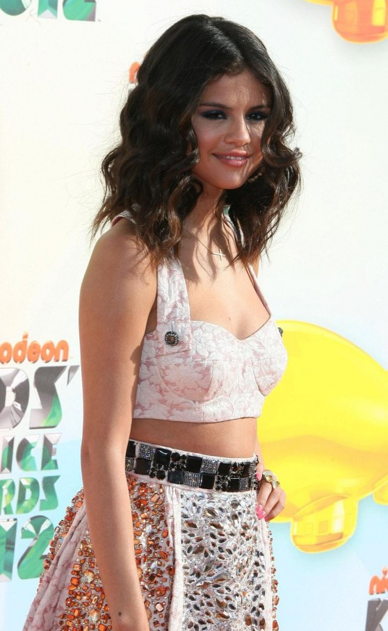 Selena Gomez Cropped Top Skirt
