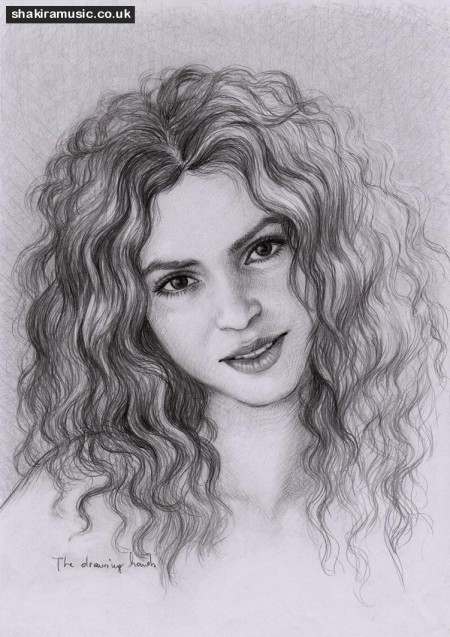 Most Elegant Sketches Of Beautiful Shakira Isabel Mebarak Ripoll