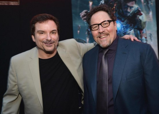 Shane Black And Jon Favreau At Event Of Iron Man Omul De Otel Large Picture