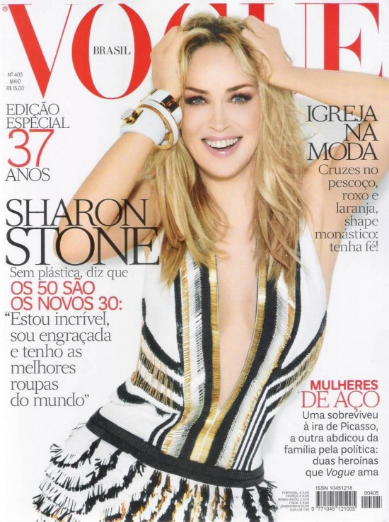 Sharon Stone Vogue Brazil Pictures