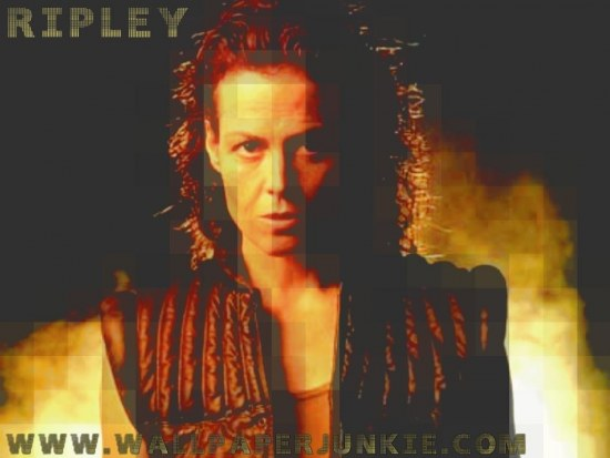 Sigourney Weaver As Ripley In Alien Wallpaper Wallpaper