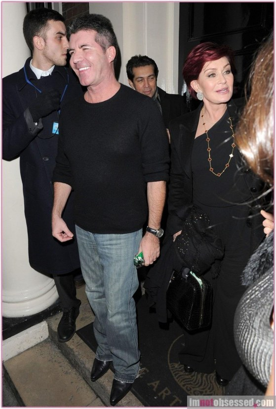Simon Cowell Sharon Osbourne Louis Walsh