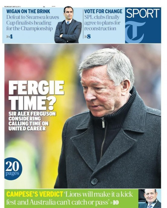Telegraph Fergie Retirement