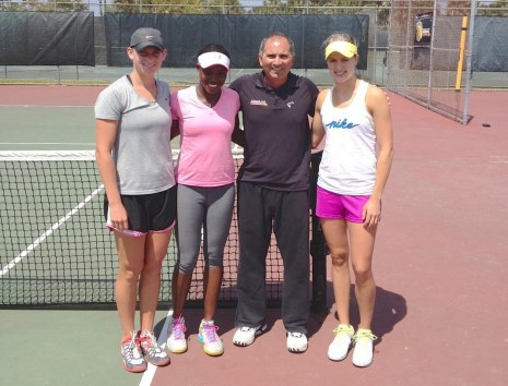 Mallory Burdette Sloane Stephens Nick Saviano And Eugenie Bouchard Laura Robson